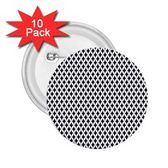 Diamond Black White Shape Abstract 2 25  Buttons (10 Pack)