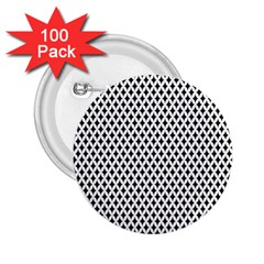 Diamond Black White Shape Abstract 2.25  Buttons (100 pack)