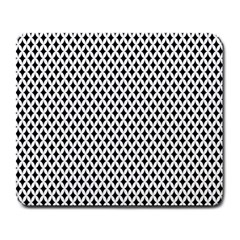 Diamond Black White Shape Abstract Large Mousepads