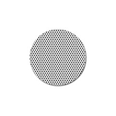 Diamond Black White Shape Abstract Golf Ball Marker (4 pack)