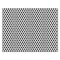 Diamond Black White Shape Abstract Rectangular Jigsaw Puzzl