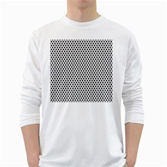 Diamond Black White Shape Abstract White Long Sleeve T-Shirts