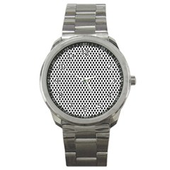 Diamond Black White Shape Abstract Sport Metal Watch