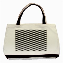 Diamond Black White Shape Abstract Basic Tote Bag (Two Sides)