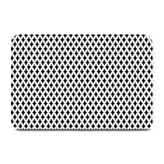 Diamond Black White Shape Abstract Plate Mats