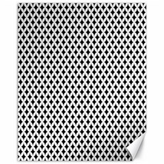 Diamond Black White Shape Abstract Canvas 11  x 14
