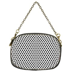 Diamond Black White Shape Abstract Chain Purses (Two Sides)