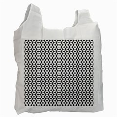 Diamond Black White Shape Abstract Recycle Bag (Two Side)
