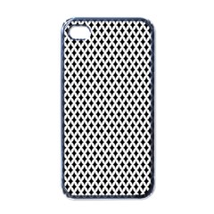Diamond Black White Shape Abstract Apple iPhone 4 Case (Black)