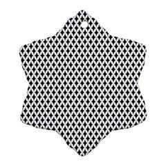 Diamond Black White Shape Abstract Snowflake Ornament (Two Sides)