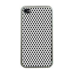 Diamond Black White Shape Abstract Apple iPhone 4 Case (Clear)