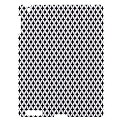 Diamond Black White Shape Abstract Apple iPad 3/4 Hardshell Case