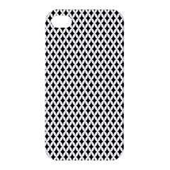 Diamond Black White Shape Abstract Apple iPhone 4/4S Premium Hardshell Case