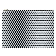 Diamond Black White Shape Abstract Cosmetic Bag (XXL)