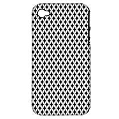 Diamond Black White Shape Abstract Apple Iphone 4/4s Hardshell Case (pc+silicone)