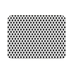 Diamond Black White Shape Abstract Double Sided Flano Blanket (mini)