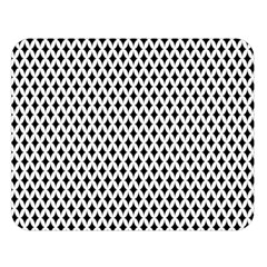 Diamond Black White Shape Abstract Double Sided Flano Blanket (Large)