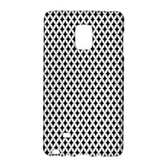 Diamond Black White Shape Abstract Galaxy Note Edge