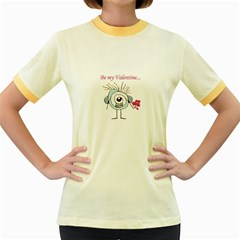Valentine Day Poster Women s Fitted Ringer T-Shirts