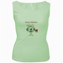 Valentine Day Poster Women s Green Tank Top