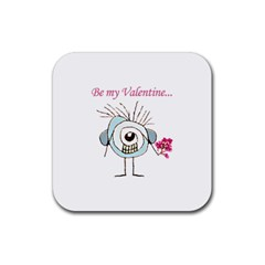 Valentine Day Poster Rubber Square Coaster (4 pack)