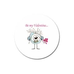 Valentine Day Poster Magnet 3  (Round)