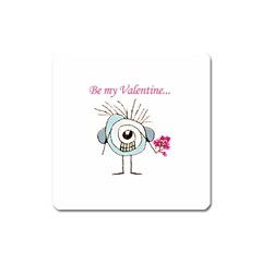Valentine Day Poster Square Magnet