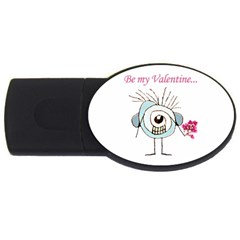 Valentine Day Poster USB Flash Drive Oval (2 GB)