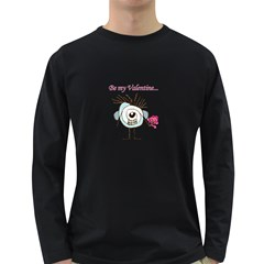 Valentine Day Poster Long Sleeve Dark T-Shirts