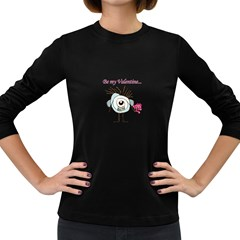 Valentine Day Poster Women s Long Sleeve Dark T-Shirts