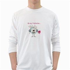 Valentine Day Poster White Long Sleeve T-Shirts