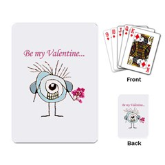 Valentine Day Poster Playing Card