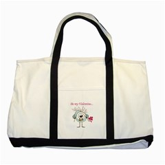 Valentine Day Poster Two Tone Tote Bag