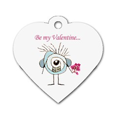 Valentine Day Poster Dog Tag Heart (Two Sides)