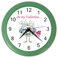 Valentine Day Poster Color Wall Clocks