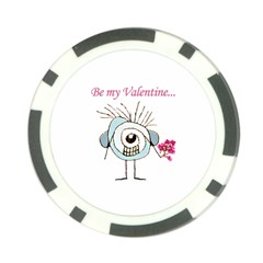 Valentine Day Poster Poker Chip Card Guard