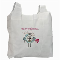 Valentine Day Poster Recycle Bag (One Side)