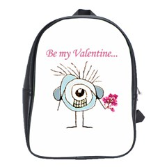 Valentine Day Poster School Bags(Large)