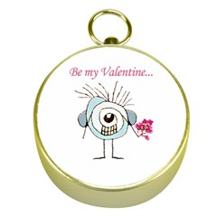 Valentine Day Poster Gold Compasses