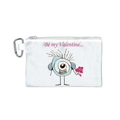 Valentine Day Poster Canvas Cosmetic Bag (S)