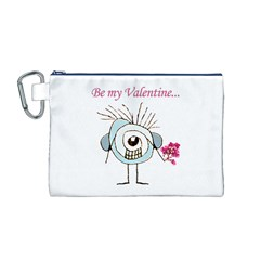Valentine Day Poster Canvas Cosmetic Bag (M)