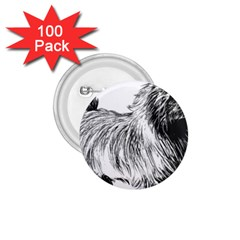 Cairn Terrier Greyscale Art 1.75  Buttons (100 pack)