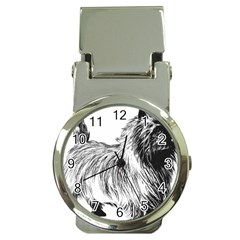 Cairn Terrier Greyscale Art Money Clip Watches