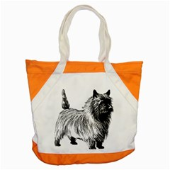 Cairn Terrier Greyscale Art Accent Tote Bag
