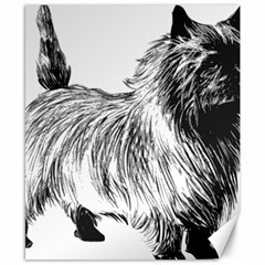 Cairn Terrier Greyscale Art Canvas 8  x 10