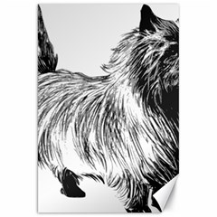 Cairn Terrier Greyscale Art Canvas 20  x 30