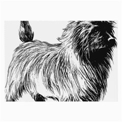 Cairn Terrier Greyscale Art Large Glasses Cloth