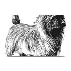 Cairn Terrier Greyscale Art Plate Mats