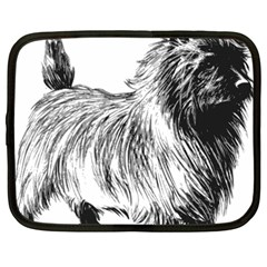 Cairn Terrier Greyscale Art Netbook Case (Large)