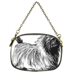 Cairn Terrier Greyscale Art Chain Purses (One Side)